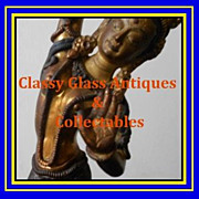 REDUCED Mid c20th Gilded & Hand Painted Nepalese Bronze Dancing Girl Figurine Depicting Tara.