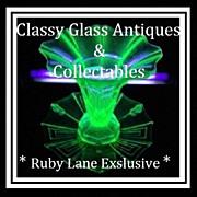 REDUCED Incredible 3 Piece Uranium Green Glass 1930s Austrian Art Deco Vase & Charger Center .