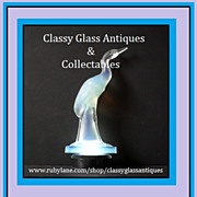 REDUCED Sabino Opalescent Crystal Glass Cigogne héron  - Heron Stork Figurine