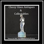 REDUCED Venus de Milo Opalescent Crystal Art Glass Figurine by Sabino