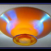 REDUCED Large WMF Myra Krystal Iridescent Glass Tazza - Comport. c1920s
