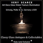 Incredible German Art Deco Illuminated Lamp & Water Feature Display by Schweig, Muller & Co. .