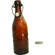 SOLD St. Helena Bottling and Cold Storage Co Dark Brown Beer Bottle