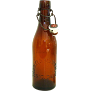 TICOULET & BESHORMAN Blob Top Beer Bottle Sac. Cal.