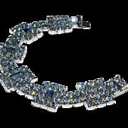 Blue Rhinestone Bracelet by Kramer