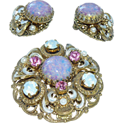 Vintage West Germany Brooch Demi Parure Set