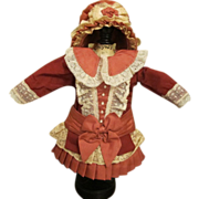 Wonderful Small Doll Dress and Hat