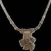 REDUCED Art Deco Marcasite Lavalier Necklace Wedding Silver 935 Vintage