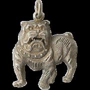 Vintage Sterling Bulldog Dog Pendant Silver Figural
