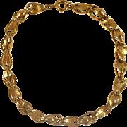 SALE Vintage 14K Gold Kite Ribbons Bracelet Foldover Links