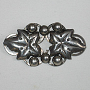 SALE Hermann Siersbol Danish Sterling Silver Leaf and Ball Pin