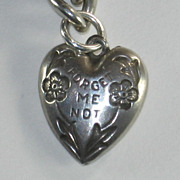 SALE Sterling Silver Puffy Heart Charm - Not Your Usual Forget-Me-Not