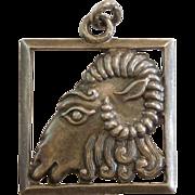 SALE Margot de Taxco Mexico Sterling Zodiac Charm Pendant – Aries the Ram