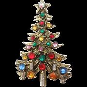 SALE Hollycraft Christmas Tree Pin