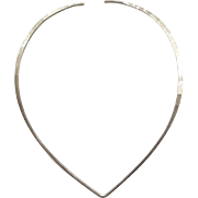 SALE David Andersen Hammered Sterling Silver Neck Ring Collar Necklace