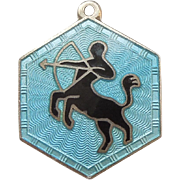 Sagittarius David Andersen Sterling Silver and Guilloche Zodiac Charm
