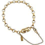 SALE Monet Gold-tone Dot Dash Link Starter Charm Bracelet