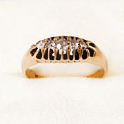 SALE 18K Gold Edwardian Diamond Band 1906