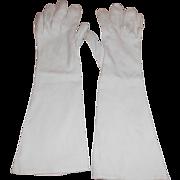 1949 Long White Gloves