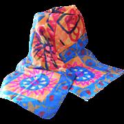 SALE Beautiful Rectangular Handmade Silk Scarf