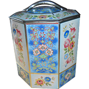 Vintage Belgium Eight Sided Tin Can