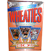 SALE 1996 Wheaties Super Bowl 30th Anniversary Cereal Box