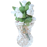 REDUCED Pressed Glass Bud Vase