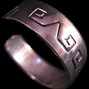 SALE Hopi Style Sterling Silver Bracelet