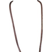 "SALE Vintage 4 MM Sterling Silver Bali Wheat Chain 18 ""."