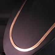 14 K yellow Gold 4 MM Wide Herringbone chain 16 in.