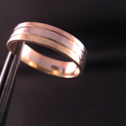 18 K Tri color gold band- Yellow gold Rose gold and white gold band
