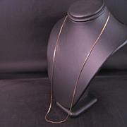 14 k Yellow gold solid cobra chain 18 inch