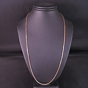 14 K Yellow Gold  Solid Box Chain 16 inch