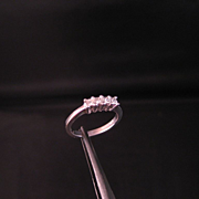 Diamond Ring Princess cut .25 ct. Total weight ring