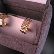 14 K yellow Gold Hoop Earrings