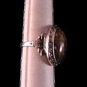 Vintage Sterling Silver Jasper Ring Size 6