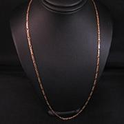 Vintage 14 k Figaro link chain