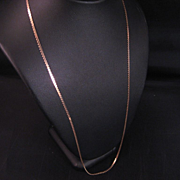 14 K yellow Gold Serpentine Chain