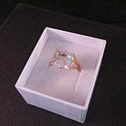 Vintage 14 k Yellow Gold Rose Quartz Ring