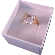 Vintage  14 K Gold Quartz Ring