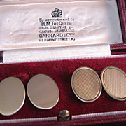 SALE 18 K Gold Garrard Disc Stud Earrings circa 1919