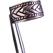 Vintage Sterling Silver 10 MM Wide Design Band