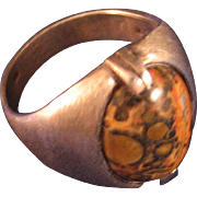 Sterling Silver and Jasper Ring Size 9 1/2