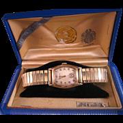 Vintage Gruen Men's 17 Jewel 10K Gold Fill Watch with Box
