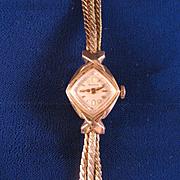 1950s Ladies Bulova Watch Bracelet 10 K gold