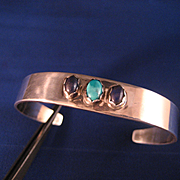 SALE Sterling Silver Southwest  Bracelet