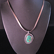 REDUCED Vintage Navajo Royston Green Turquoise Necklace