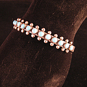 Vintage Harvey Era Snake Eye Row Sterling Bracelet