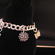 """Sterling Silver Young Person""""s Size Charm Bracelet"""