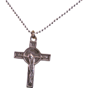 Vintage Sterling Silver Cross and Sterling Silver chain